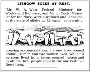 Lithgow soles at rest newspaper article