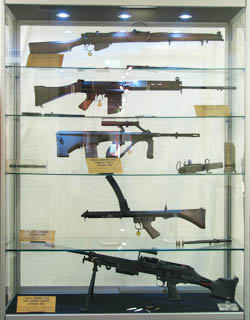 Cabinet containing first production weapons