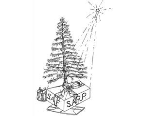 SARP christmas present cartoon